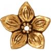 Bead Cap Jasmine Star Antique Gold